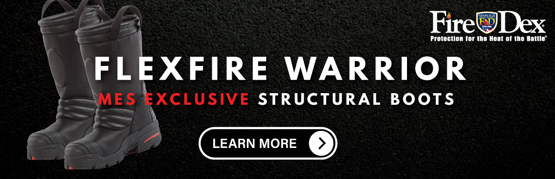 The FireDex MES Exclusive Flex Fire Warrior Structural Firefighting Boot